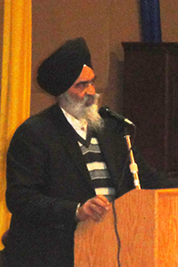 Mr Manjit Singh Mangat, President of the Gurdwara Sikh Lehr Center